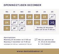 Openingstijden december